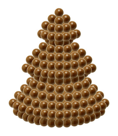 Chocolate Christmas tree on white background photo