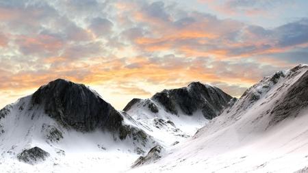 monta�as nevadas: Snowy Mountains Monta�a Pico