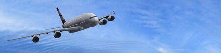 the passenger: Modern Passenger airplane in flight - panorama