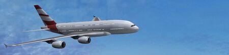 airbus: Modern Passenger airplane in flight
