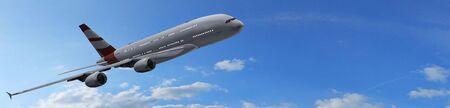 boeing: Modern Passenger airplane in flight