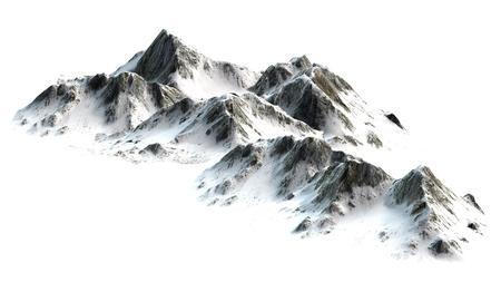 Snowy Mountains - Berggipfel - auf weißem weißem Hintergrund getrennt Standard-Bild - 42157152