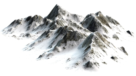 Snowy Mountains - Berggipfel - auf weißem weißem Hintergrund getrennt Standard-Bild - 42157154