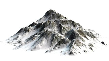 Snowy Mountains - Berggipfel - auf weißem weißem Hintergrund getrennt Standard-Bild - 42157164