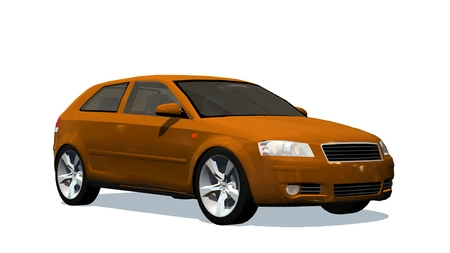Moderne Kleinwagen - isoliert auf weißem Hintergrund Standard-Bild - 42114823