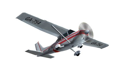 border patrol: most popular light aircraft ever with single propeller Isolated on a white background Stock Photo