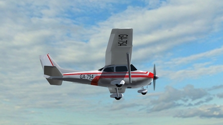 border patrol: most popular light aircraft ever with single propeller in fly