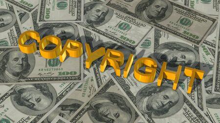 bills: Copyright  lettering on 100  bills
