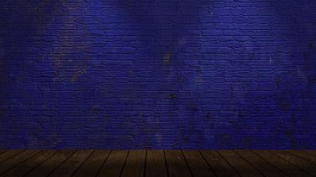 Brickwall illuminated by spotlights
