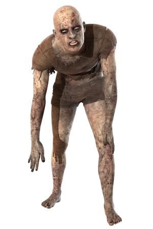 Zombie isolated on white background Standard-Bild