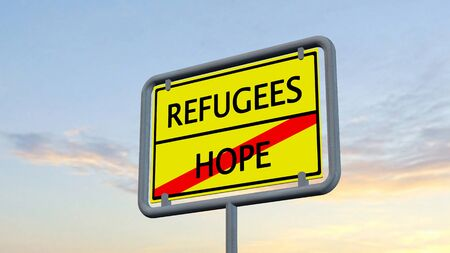 hope: Refugees Hope sign
