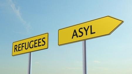 asylum: Refugees Asylum Signpost