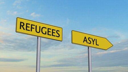 immigrant: Refugees Asylum Signpost