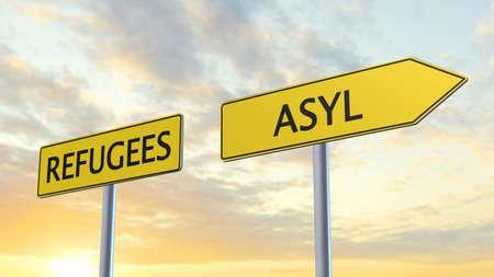 humane: Refugees Asylum Signpost