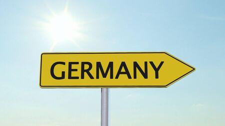 humane: Germany Signpost Stock Photo