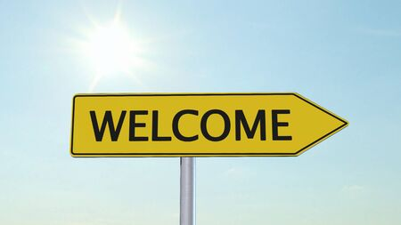 international crisis: Welcome Signpost