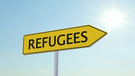 immigrant: Refugees Signpost