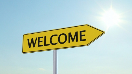welcome sign: Welcome Signpost