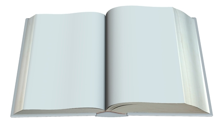 spread sheet: open blank book isolated on white background