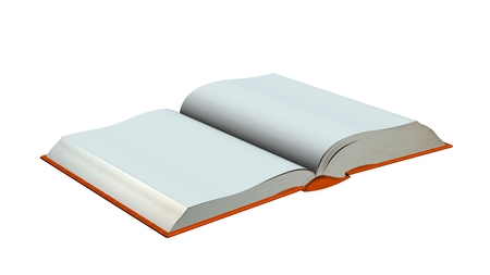 note booklet: open blank Book isolated on white background Stock Photo
