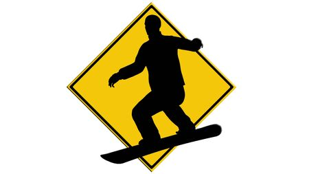 freestyle: Snowboard Freestyle sign - isolated on white background