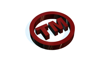 tm: TM - round Trademark sign on white background