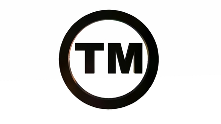 marrow: TM - round Trademark sign on white background