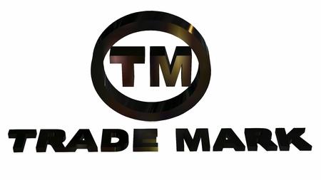 TM - round Trademark sign on white background