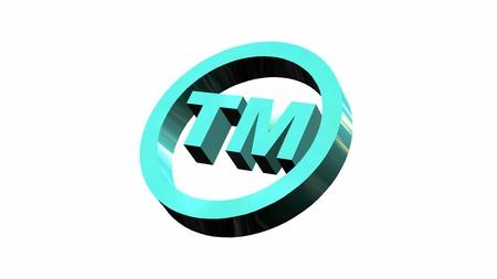 TM - rond Trademark teken op witte achtergrond