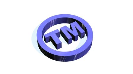 흰색 배경에 TM- 라운드 상표 기호