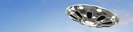 area 51: UFO flying saucer in the sky
