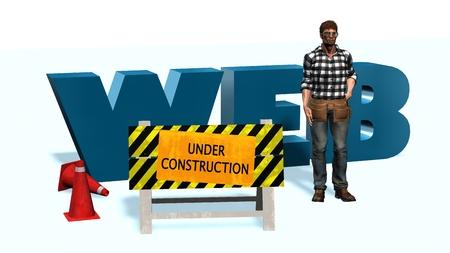 computer repairing: 3d illustration of website under construction concept 3d illustration of website under construction concept