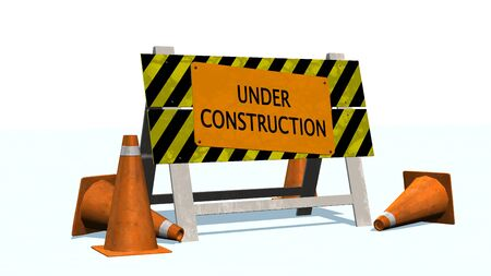 computer repairing: Under Construction - Barrier Stock Photo