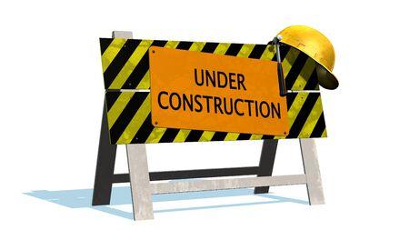 barrier: Under Construction - Barrier Stock Photo