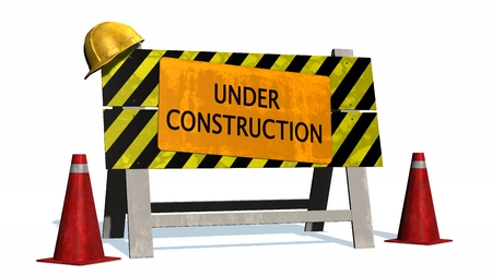 of construction: Under Construction - Barrier Stock Photo