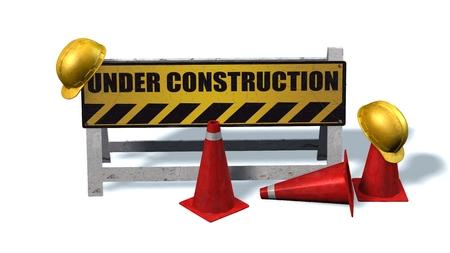 construction barrier: Under Construction - Barrier Stock Photo