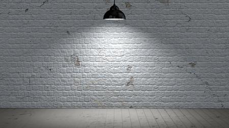 brickwall illuminated with spot lights