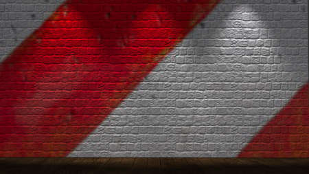 illuminated: brickwall illuminated with spot lights
