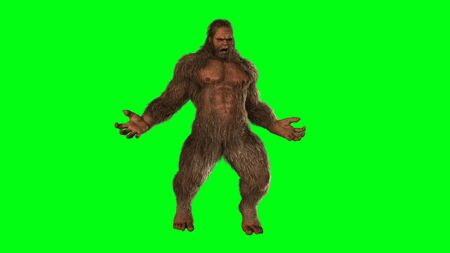 bigfoot: Sasquatch - Bigfoot seperated on greenscreen