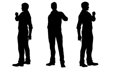 shadow man: silhouettes of men