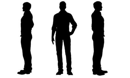 silueta masculina: silhouettes of men
