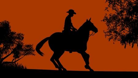 rancher: Cowboy silhouette