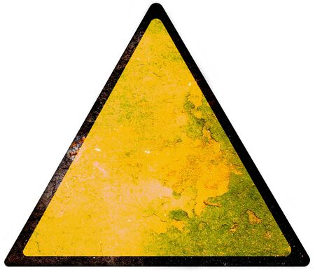 yellow attention: Empty Yellow Sign - Danger attention and alert sign