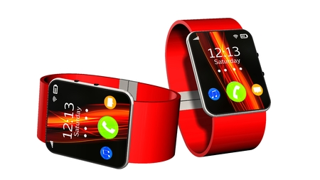 two smart watch isolated on white background