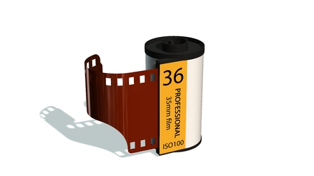 35mm camera photo movie canisters isolated on white35mm camera photo movie canisters isolated on white