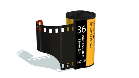 35mm camera photo film-container isolated on white