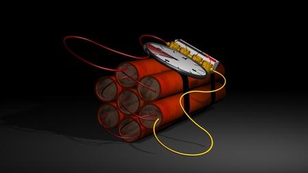 dinamita: bomba de dinamita con un temporizador