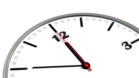 10 12: 10 to 12 clock - time to act concept isolated on white