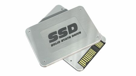 hard drive: SSD drive - State solid drives isolated on white background