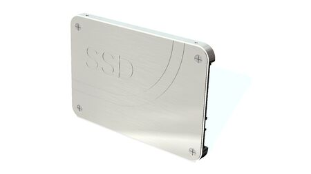 SSD drive - State solid drives isolated on white background